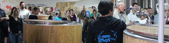 visite de la brasserie Artisananale Le grand Bison